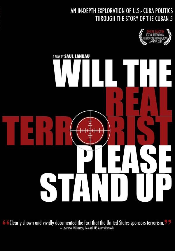 Por favor, que el verdadero terrorista se ponga de pie