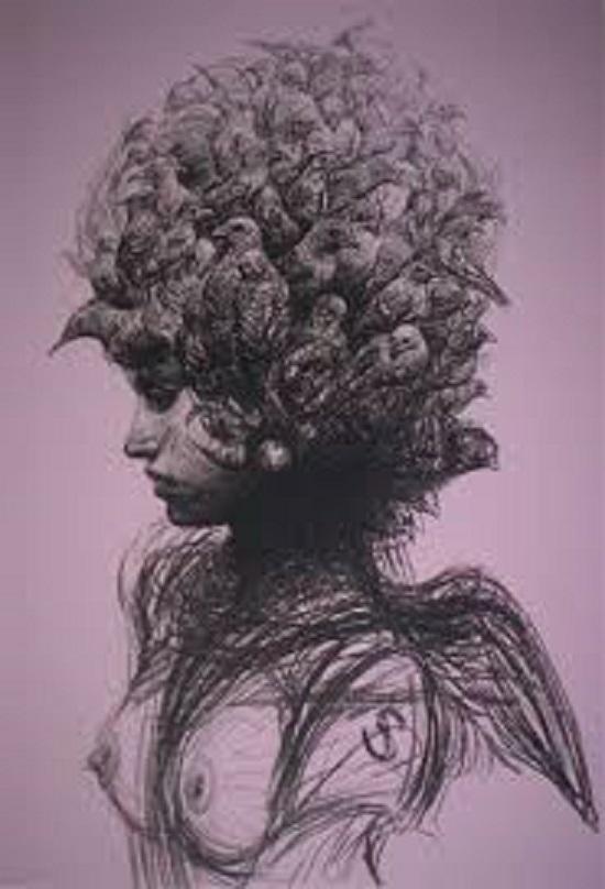Obra del artista plástico cubano Roberto Fabelo.