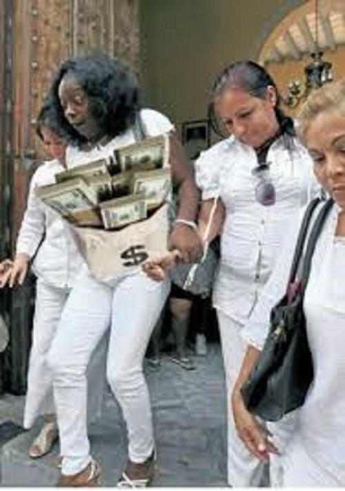 "Berta Soler portando una ""jabita""."